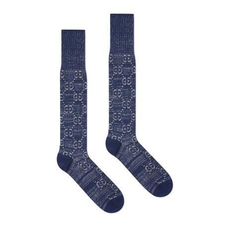 GG图案棉短袜