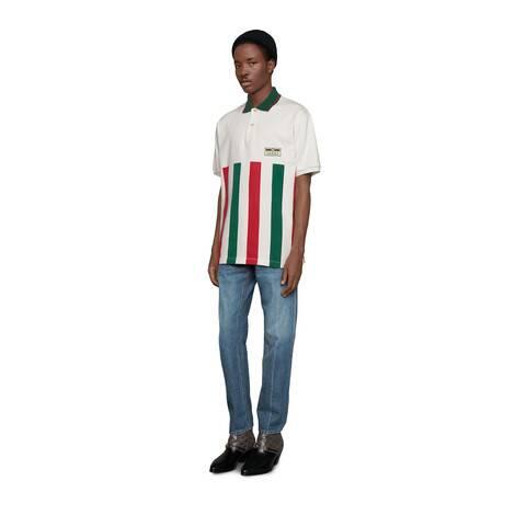 条纹织带超大造型Polo衫