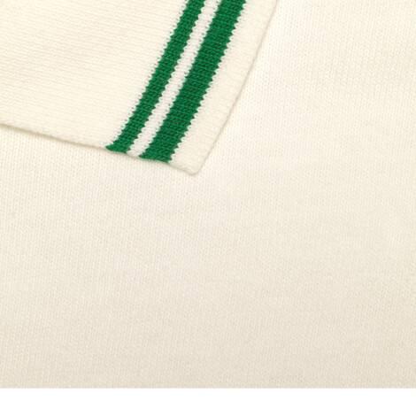 饰织带和互扣式双G棉布polo衫