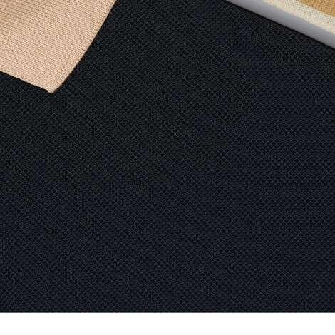 饰互扣式双G条纹棉质Polo衫