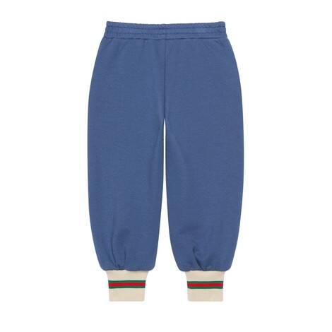 儿童织带棉布慢跑长裤