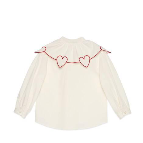儿童心形刺绣棉质上衣
