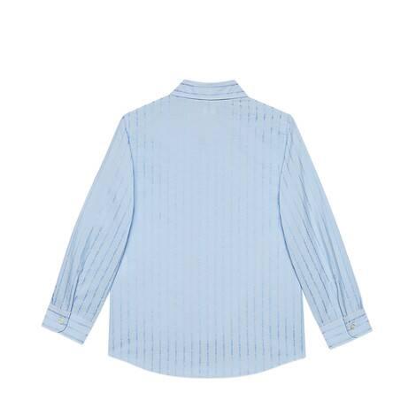 儿童Gucci棉质切丝衬衫