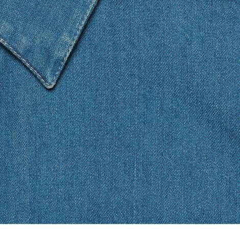 饰织带石磨水洗牛仔衬衫