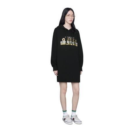 """Original Gucci""印花兜帽连衣裙"