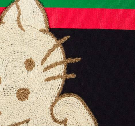 """猫咪贴饰""""Original Gucci""""印花卫衣"""