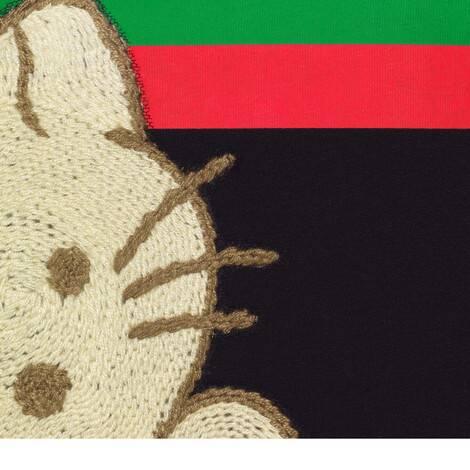 """饰猫咪贴饰""""Original Gucci""""超大造型T恤"""