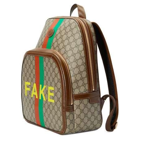 """Fake/Not""印花中号背包"