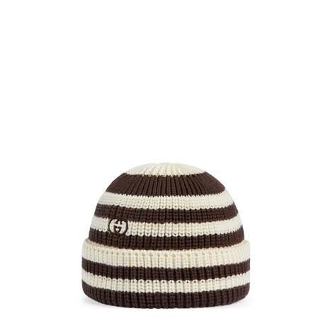 儿童条纹针织棉帽