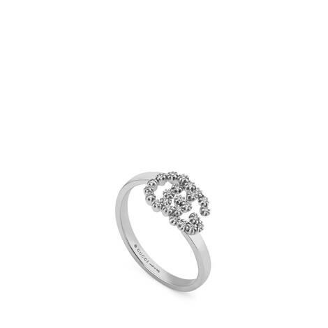 GG Running系列18K白金钻石戒指