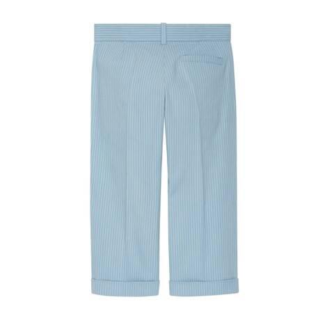 儿童条纹棉长裤