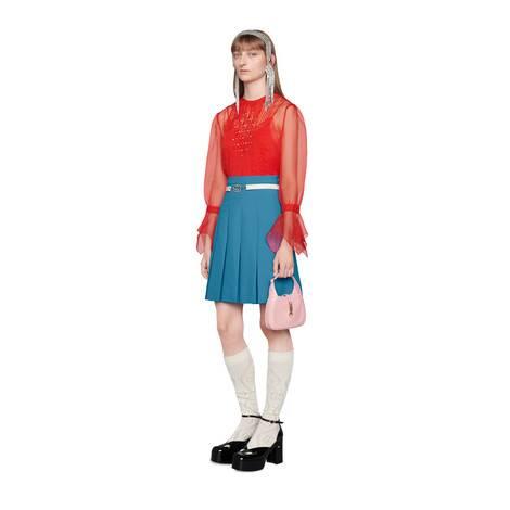 短款百褶裙