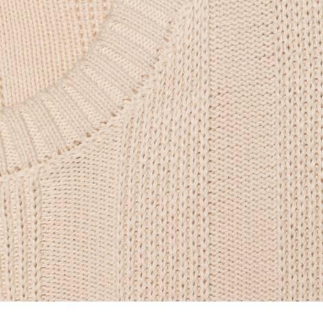 饰互扣式双G棉质针织毛衣