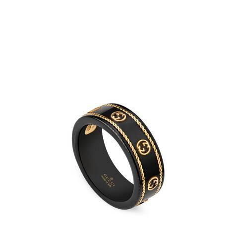 Icon系列黄金互扣式双G戒指