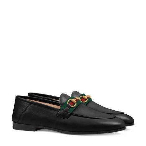 女士织带乐福鞋
