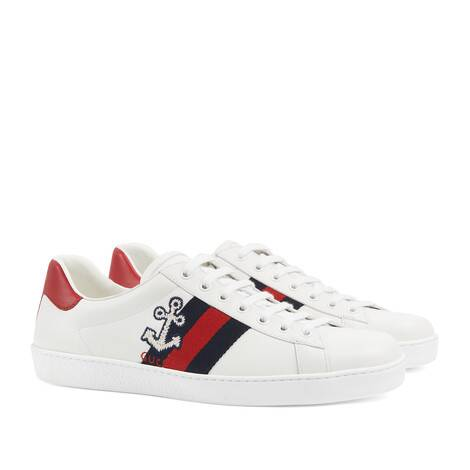 Ace系列男士花椰菜刺绣运动鞋