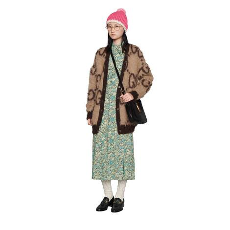 Gucci Liberty花卉印花绉绸半身裙