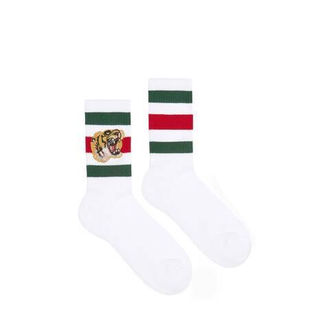 老虎图案弹力棉短袜