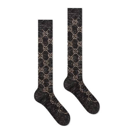 金银丝线GG短袜