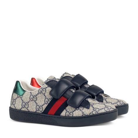 儿童高级人造帆布运动鞋