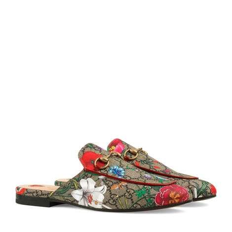Princetown系列GG花卉拖鞋