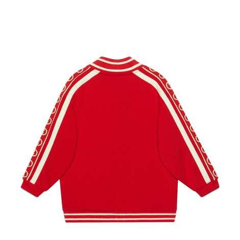 儿童互扣式双G印花棉质卫衣