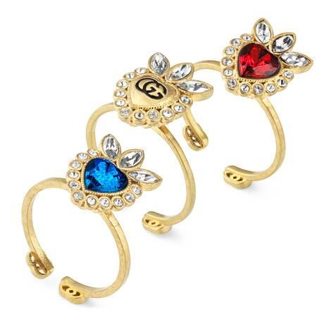水晶爱心戒指