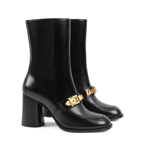 女士链条踝靴