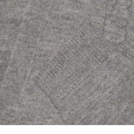绞花编织毛毡羊毛混纺短款开衫
