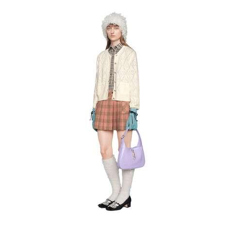GG镂空针织羊毛短款开衫