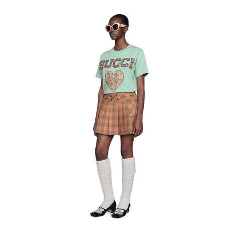 Gucci Liberty贴饰T恤