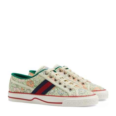 Gucci Tennis 1977系列女士Liberty London运动鞋