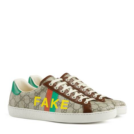 "Ace系列男士""Fake/Not""印花运动鞋"