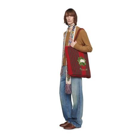 毛毡羊毛混纺V领毛衣
