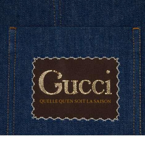 饰Gucci标签牛仔夹克