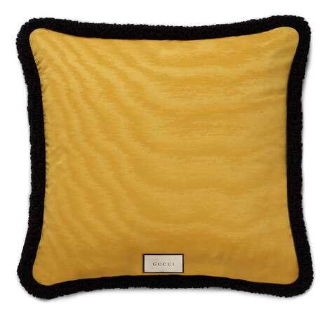 饰小鹿格纹羊毛靠垫