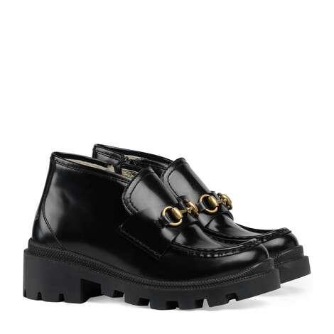 儿童马衔扣踝靴
