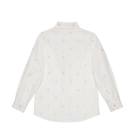儿童标志性符号刺绣牛津棉衬衫