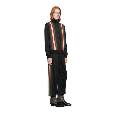 平纹针织慢跑长裤