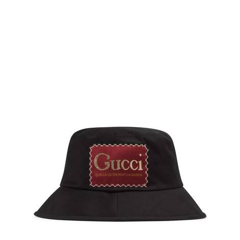饰Gucci标签棉质渔夫帽