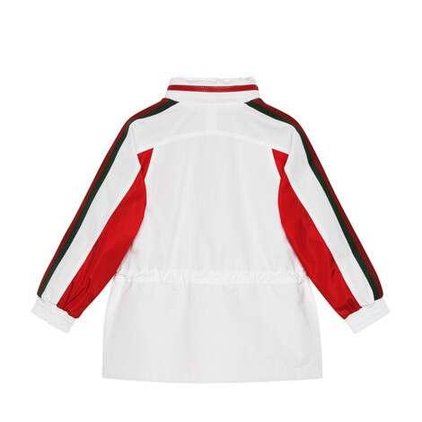 儿童Gucci标签棉布尼龙夹克