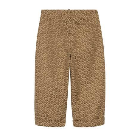 儿童菱纹GG棉质长裤