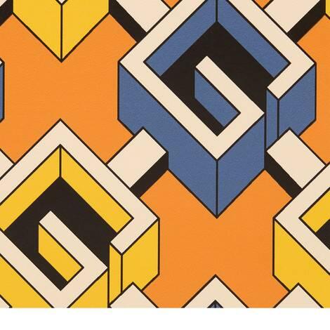 几何G印花壁纸
