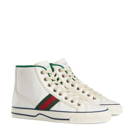 Gucci Tennis 1977系列女士高帮运动鞋
