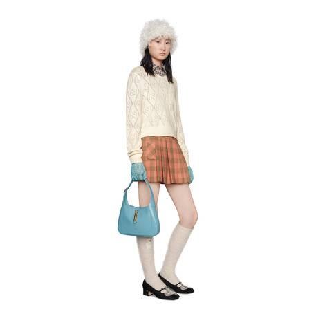 GG镂空羊毛短款毛衣