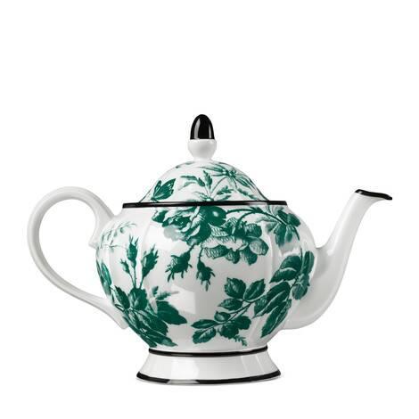 腊叶印花茶壶