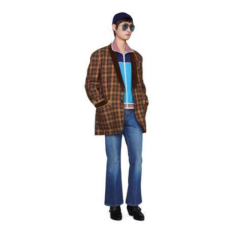 织带平纹针织拉链夹克