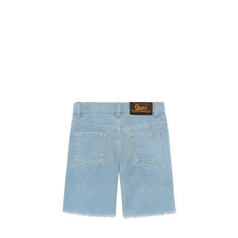 儿童饰Gucci标签灯芯绒短裤