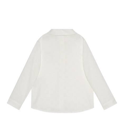儿童GG刺绣棉质衬衫