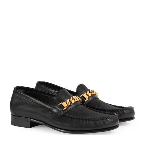 女士链条乐福鞋